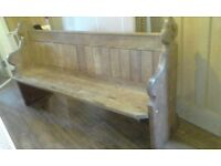 Church Pew - Needs attention - Solid - Offers near asking price