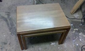 nest of 2 tables, Gordon Russell retro coffee tables, mid-century, 1950's, occasional tables
