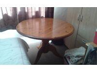 Circular Pine dining table,