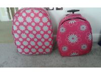 Soft sided pink suitcases