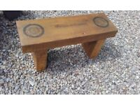Outdoor chunky wooden benches various designs available