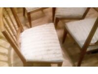 Antique chairs 4 off needs refurbished