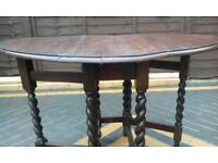 Victorian oval oak table