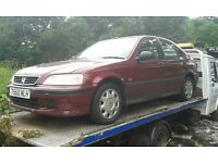 1999 Honda Civic 5dr 1.5 S red manual BREAKING FOR SPARES