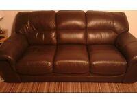 drak brown leather sofa