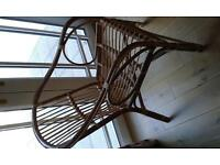 Wicker / Conservatory style chair