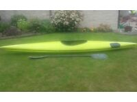 Nemesis canoe with oars and apron