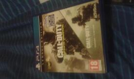 cod iw in great condition virtually new