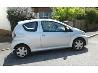 Silver Toyota Aygo ice 3 door manual