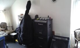 Dooble bass 3/4 (upright bass) and stand