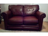Thomas Lloyd furniture brown leather 2 seater sofa settee great quality brand, pet & smoke free home