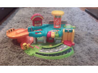 Vtech Toot Toot Garage PLUS extra track and 8 vehicles