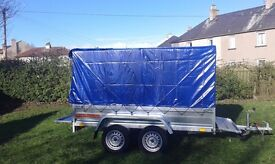 Trailers twin axle 8.7 x 4.1 whit cover only £990 INC VAT