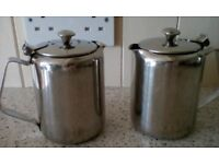 Vintage, Stainless Steel COFFEE/WATER JUGS