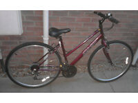 Ladies Apollo CX.10 Hybrid / Town / City / Trekking Bike Bicycle