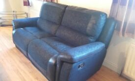 As New 2 Reclining Sofa's