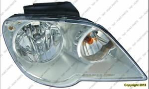 Head Lamp Driver Side Halogen High Quality Chrysler Pacifica 2007-2008