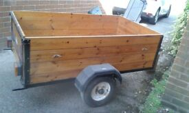 Trailer for sale. 3 x 5 very good condition. £190.