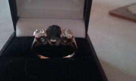 18 carat gold Sapphire and Diamond Ring.Size K