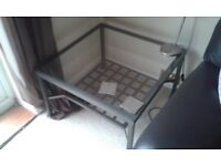 2 Ikea glass top tables