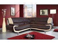 Brand new retro design corner sofa, available in 4 colours