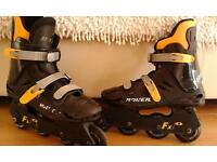 Bauer roller blades, will fit size 4/5