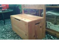 Solid Pine ...Harvey's Children's Chest Seat .... £20.00...Free local delivery. ..
