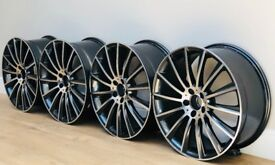 """Mercedes Benz MB14 AMG Style Wheels - 20"""" Staggered Set"""