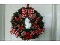 Beautiful hand made Christmas wreath brand new