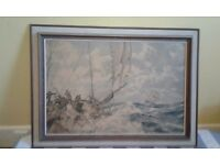"MONTAGUE DAWSON LARGE PRINT. ""Eight bells"" Offers on £50. NO TEXTS PLEASE"