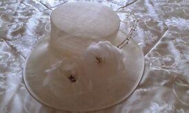 Ivory Wedding Hat