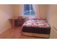 ROOM AVAILABLE IN A VERY QUIET FLAT AND AREA WITH PROFESSIONAL AND FRIENDLY FLATMATES .