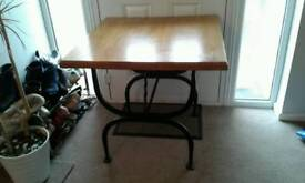Stunning hardwood table with 4 chairs