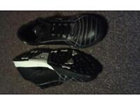 Clarks Boys Black Leather Trainers size 5.5