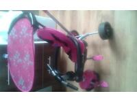 pink smart trike with instructions