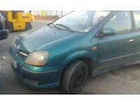 Nissan Almera Tino SE2 1.8 Litre 2002 breaking for spares