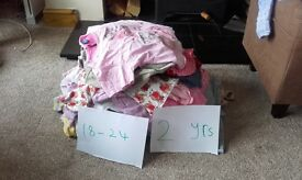 Bundle of 18-24 month girl clothes with a few 2-3 years