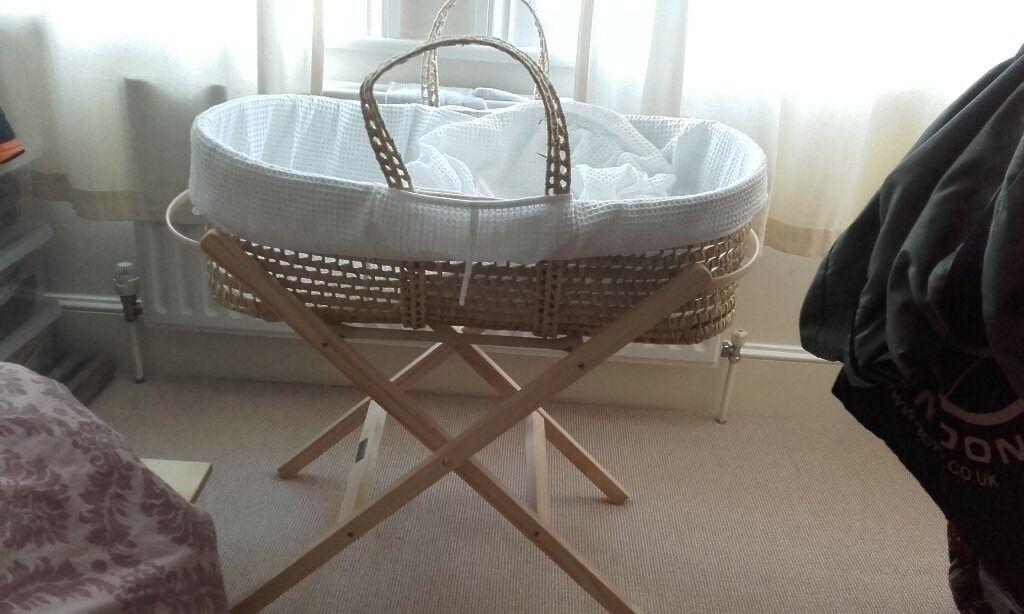 Brand new Clair de Lune moses basket
