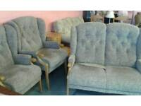 2 seater sofa and 2 armchairs lovely condition £190.00