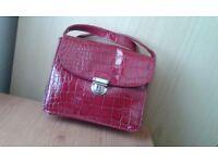 Ladies 'Next' burgundy leatherette handbag