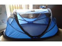 Travel cot bed, excellent condition. Mattress and carry case, folds down neatly