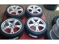 GENUINE 19 INCH RONAL STAGGERED MERCEDES S CLASS W221 W222 ALLOY WHEELS E W212 C VITO NEW TYRES