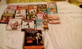 Selection of Fitness Dvds and fitness equipment