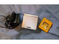 Gameboy Advance SP and Charger with Working Pokemon Yellow