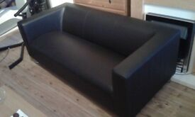 2x(2 seater sofa)+glass coffee table
