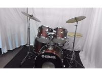 Retired drum teacher has a Yamaha Stage Custom 'Fusion' drum kit for sale.