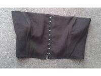 Shiny black corset size 12