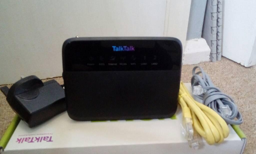 Talk talk black wireless router