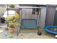 Two seater garden swing seat