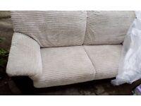 Cream and chocolate sofa